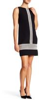 Maggy London Lace Trim Crepe Shift Dress (Petite)