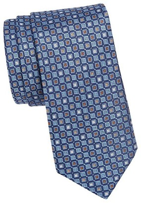 Saks Fifth Avenue Geometric Woven Silk Tie