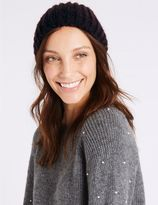Marks and Spencer Textured Beanie Winter Hat