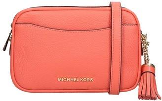 Michael Kors Shoulder Bag In Red Leather