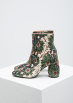 Dries Van Noten green animal skin ankle boot
