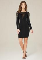 Bebe Plunge Sweetheart Dress