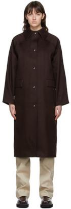 Kassl Editions Brown Wool Original Below Coat