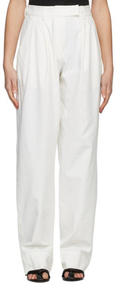 Esse Studios Off-White Tailored Trousers