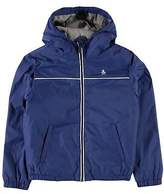 Original Penguin Kids Rain Mac Trench Coat Top Jacket Long Sleeve Hooded Zip
