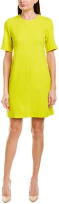 Lela Rose Wool-Blend Tunic Dress
