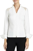 Lafayette 148 New York Esme Zip Front Blouse