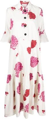 La DoubleJ Floral Print Shirt Dress