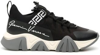 Versace Grace Key Print Chunky Sole Sneakers