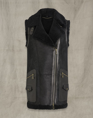 Belstaff PIPER SHEARLING VEST Black UK 4 /