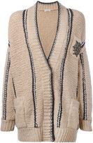 Brunello Cucinelli embellished pocket cardigan - women - Polyamide/Spandex/Elastane/Wool - S