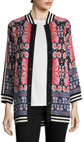 Anna Sui James Coviello Peacock Intarsia Cardigan