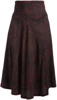 Aller Simplement Brown & Pink Floral Maxi Skirt - Plus Too