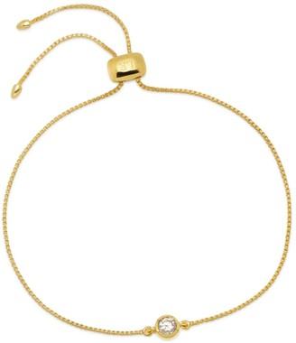 Lola Rose London Stud Slider Bracelet In Nat White Zircon Gold