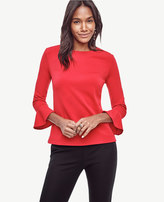 Ann Taylor Crepe Bell Sleeve Top