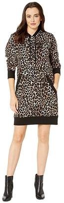 MICHAEL Michael Kors Cheetah Print Sweater Dress (Dark Camel) Women's Clothing