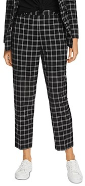 1 STATE Windowpane Plaid Pants