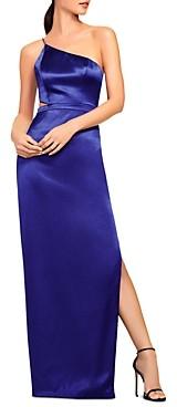 Aidan Mattox One-Shoulder Satin Gown