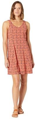 Toad&Co Sunkissed Petal Dress (Coral Blaze Petal Print) Women's Dress