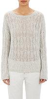 Nili Lotan Women's Ladder-Stitched Sweater-LIGHT GREY