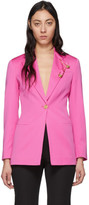 Versace Pink Safety Pin Blazer