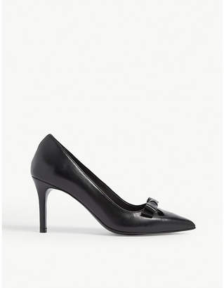 Claudie Pierlot Bow leather heeled courts