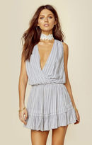Indah balmy printed crossfront dress