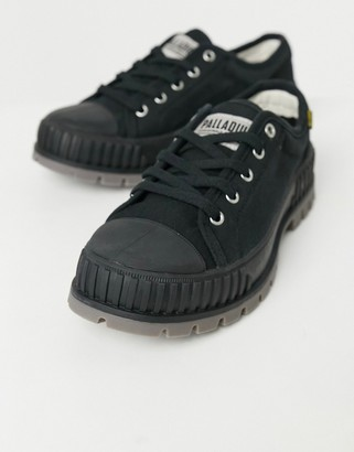Palladium pallashock og sneakers in black