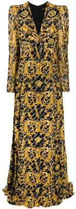 Versace Barocco Signature long dress