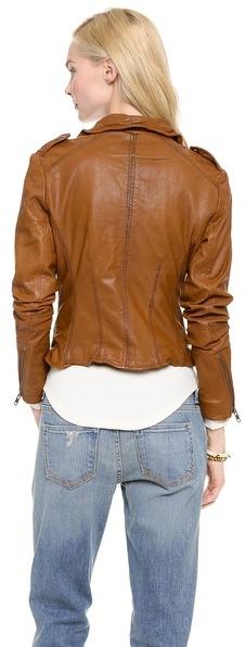 Muu Baa Muubaa Sabi Leather Biker Jacket