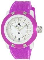 Glam Rock Women's GR23012 Miami Beach White Dial Fuschia Silicone Watch