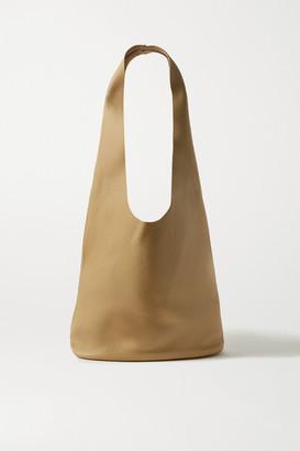 The Row Bucket Hobo Textured-leather Shoulder Bag - Beige