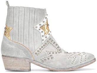 Strategia Metallic Detail Studded Ankle Boots