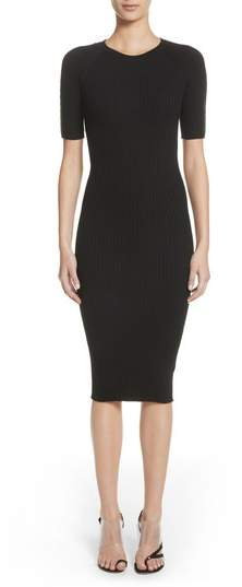 Alexander Wang Pin Pierce Ribbed Body-Con Dress