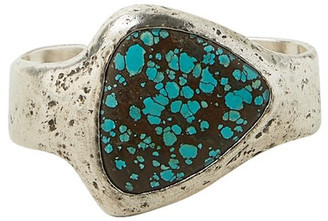 John Varvatos Distressed Silver Turquoise Cuff