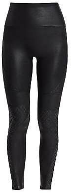Spanx Women's Quilted Leather-Look Leggings