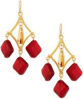 Devon Leigh Golden Ruby Crystal Drop Earrings