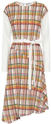 Loewe Checked wool midi dress
