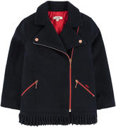 Junior Gaultier Biker's style wool coat