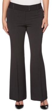 Rafaella Women's Curvy-Fit Gabardine Bootcut Trouser-Short Inseam
