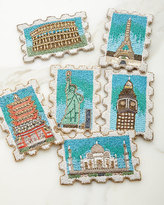 "Kim Seybert Stamp"" Coasters, Set of 6"