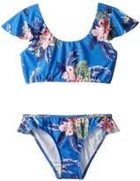 Seafolly Retro Tropic Ruffle Tankini Set Girl's Swimwear Sets