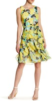 Robbie Bee Floral Ruffle Skirt Midi Dress
