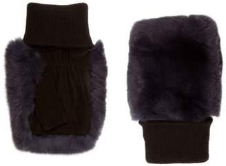 Glamour Puss Glamourpuss Rabbit Fur Fingerless Gloves