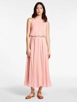 Halston Crinkle Chiffon Dress With Hardware