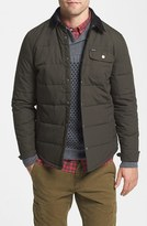 Brixton Men's 'Cass' Quilted Shirt Jacket With Corduroy Collar
