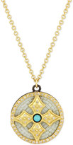 Armenta 18k Mosaic Cross Pendant Necklace
