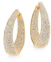 Adriana Orsini Crystal Pavé Twist Hoop Earrings/1.25""