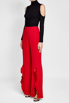 Saloni Crepe Pants with Ruffles
