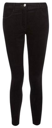 Dorothy Perkins Womens Petite Black Corduroy Frankie Jeans, Black